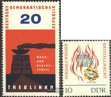 DDR 975,997 (complete.issue) Unmounted Mint / Never Hinged 1963 Treblinka, Kristallnacht - Nuovi