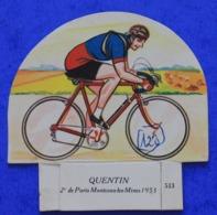 Cyclisme : Découpi Vache Sérieuse , Maurice Quentin  2e De Paris - Montceau Les Mines 1953 - Cyclisme