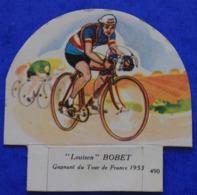 Cyclisme : Découpi Vache Sérieuse , Louison Bobet Gagnant Du Tour De France  1953 - Cyclisme