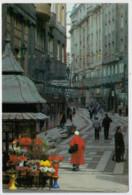 BUDAPEST   BEVASARLO UTCA--  EINKAUFSTRASSE-  SHOPPING  STREET      (VIAGGIATA) - Ungheria