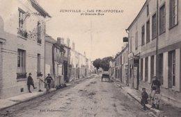 Juniville Café Philippoteau Et Grande Rue - France