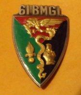 LEGION : 61° Bataillon Mixte De Génie Légion, émail, Dos Guilloché Embouti , FABRICANT DRAGO PARIS ,HOMOLOGATION 2277, E - Armée De Terre