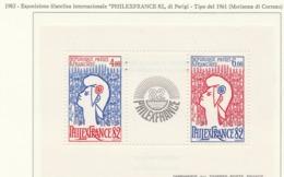 """PIA - FRANCIA - 1982 : Esposizione Filatelica Internazionale """"Philexfrance '82"""" Di Parigi  - (Yv   Bf  8) - 1961 Marianne De Cocteau"""
