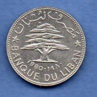 Liban -  50 Piastres 1980  -  état  SPL - Libanon
