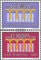 San Marino 1294-1295 (complete Issue) Unmounted Mint / Never Hinged 1984 Europe - San Marino