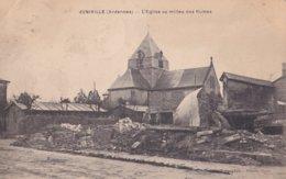 Juniville L'église Au Milieu Des Ruines - France