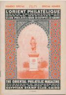 970/25 -- EGYPT Magazine L' Orient Philatélique , Special Number No 31 ,  January 1937 , 52 Pages - Original Edition - Inglesi (prima Del 1940)