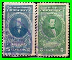 COSTA RICA  2 SELLOS DE SERIE AÑO 1943-47 - Costa Rica