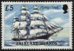 FALKLAND ISLANDS, 1990, VESSEL FLYING CLOUD, YV#529, MNH - Falkland