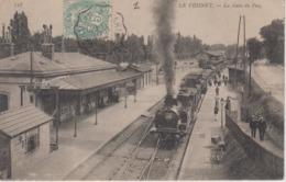 CPA Le Vésinet - La Gare Du Pecq (avec Train En Beau Plan) - Le Vésinet