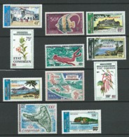 COMORES 1975 . Poste Aérienne . Du N°72 Au N° 81 + N° 84 . Neufs ** (MNH) - Comores (1975-...)