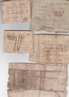 TROUVAILLE-LOT DE 5 LETTRES+-1830-PLESSIS CHENET-ESSONNES-VERS LIEGE-JOSEPH CORDIER?-RUE DE LA SIRENE-A ETUDIER-7 SCANS - 1815-1830 (Période Hollandaise)