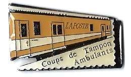 TGV POSTAL - T309 - WAGON POSTAL - MUSEE DE LA POSTE - Verso :MUSEE DE LA POSTE - TGV