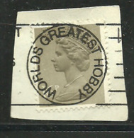 """Great Britain, Elizabeth Stamp 16 P  With Very Clear Cancellation  """"Worlds Greatest Hobby"""", Used - Errori Sui Francobolli"""