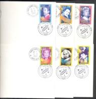 France -  6 EXEMPLAIRES 1ER JOUR - 19 .05.2001 - Chanteurs - FDC