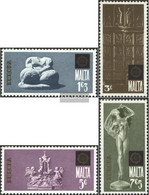Malta 493-496 (complete Issue) Unmounted Mint / Never Hinged 1974 Sculptures - Malta