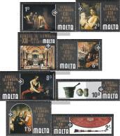 Malta 401-408 (complete Issue) Unmounted Mint / Never Hinged 1970 Art Exhibition - Malta