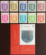 Jersey 2015 Definitive Coat Of Arms Set MNH - Jersey