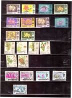 21 Stamps. Malaysia. Johor. Flowers. Canceled.  All Different. Average State - Other