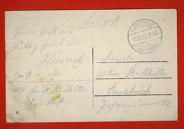 Feldpost Carte Postale Obliérée Lüttich 2 Hauptbahnhof 15/10/15 Vers Osnabruck - WW I