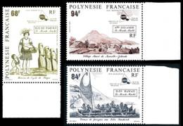 POLYNESIE 1991 - Yv. 379 380 Et 381 **   Cote= 76,20 EUR - Le Monde Mahori (3 Val.)  ..Réf.POL24597 - Polynésie Française