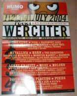 Poster/affiche Humo Rock Werchter 2004 - Publicité
