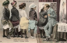 CPA   CONCOURS DE BEAUTE---L'AOUR DOIT SOURIRE A SOUHAITS-A MOLLETS SI CHARMANTS  PARFAIT - Moda