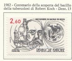 PIA - FRA - 1982 : Centenario Della Scoperta Del Bacillo Della Tubercolosi Di Robert Koch   - (Yv 2246) - Malattie