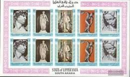 Aden - Upper Yafa 17B-21B Sheetlet (complete Issue) Unmounted Mint / Never Hinged 1967 Sculptures - Yemen
