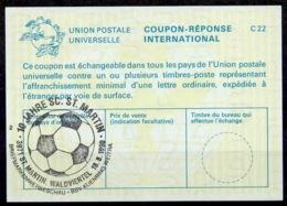 AUTRICHE AUSTRIA OESTERREICH La25 Int. Reply Coupon Reponse Antwortschein IAS IRC O FUSSBALL 10 JAHRE SC. ST. MARTIN - Fussball