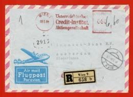 Luftpostbrief Reco Wien Amsterdam 6/3/1954 : 6.60 Sch - 1945-60 Lettres