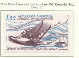"""PIA - FRA - 1982 : Idrovolante Laté 300 """"Croce Del Sud"""" - (Yv P.A. 56) - Aerei"""