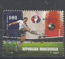 MK 2016-766 UEFA CUP FRANCE, MAKEDONIA, 1 X 1v, Used - Macédoine