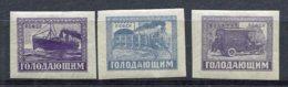RUSSIE - Yv N° 185 à 187  *  Famine Cote 0,9  Euro  BE  2 Scans - 1917-1923 Repubblica & Repubblica Soviética