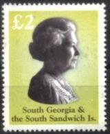 SOUTH GEORGIA AND SOUTH SANDWICH ISLANDS, 2003, QUEEN ELIZABETH II, YV#356, MNH - Südgeorgien