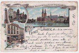CPA Germany Gruss Aus LUBECK Parfumerie Henning Von Minden 1897 - Lübeck
