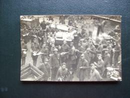 Carte Photo Carte Postale De 1918-1919 De Moyenmoutier - Soupe Américaine - Soldats, Militaria - Francia