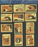VACUUM CLEANER SEWING MACHINE WASHING  ASPIRATEUR MACHINE À COUDRE MACHINE À LAVER  MIXER Matchbox Labels USSR 1959 - Matchbox Labels