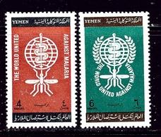 Yemen 135-36 MNH 1952 Anti-Malaria Campaign - Yemen