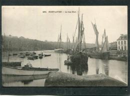 CPA - Karten Bost - PONT AVEN - Le Bas Port, Animé - Bateaux De Pêche  (dos Non Divisé) - Pont Aven