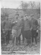 CAMPAGNE 1914-1915 TRAIN DE COMBAT  PHOTO ORIGINALE  11 X 8  CM - War, Military