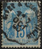 Sage N°90 Type Il O.(CAD Ambulant ) GIVET A CHARLEVILLE.7 OCT 1890. - 1876-1898 Sage (Type II)