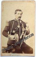 Photo Cdv XIX Militaire Artilleur Artillerie Military Second Empire 1860 France - Oud (voor 1900)