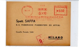 1947 EMA Affrancatura Meccanica Rossa Freistempel Milano Sorini & Migliavacca Pennelli E Spazzole Industriali Scalpellat - Affrancature Meccaniche Rosse (EMA)