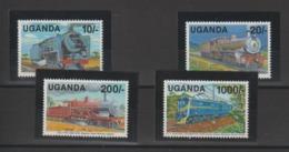 Trains Ouganda 1991 Série 746-49 4 Val ** MNH - Eisenbahnen