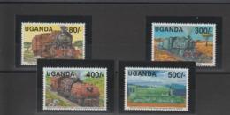 Trains Ouganda 1991 Série 790-93 4 Val ** MNH - Eisenbahnen