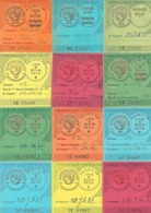 Beau Lot De 36 Vignettes Auto, De 1960 à 1999 - Manquent Seulement 3 Années : 1977, 1978 Et 1979 - Documentos Antiguos