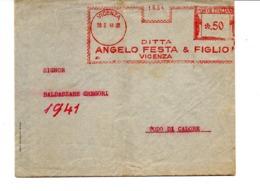1941 EMA Affrancatura Meccanica Rossa Freistempel Vicenza Angelo Festa E Figlio Vestiti Ed Uniformi Militari - Affrancature Meccaniche Rosse (EMA)