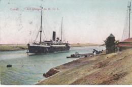 300947Canal, S/S Stuttgart Du N. D. L. 1911 (see Corners) - Suez