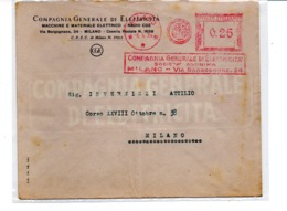 1934 EMA Affrancatura Meccanica Rossa Freistempel Milano CGE Compagnia Generale Di Elettricità - Affrancature Meccaniche Rosse (EMA)